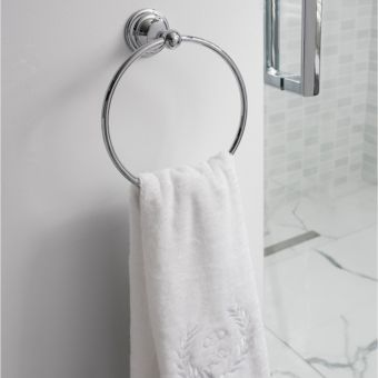 Crosswater Belgravia Towel Ring in Chrome