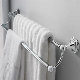 Crosswater Belgravia Double Towel Rail in Chrome - BL028C