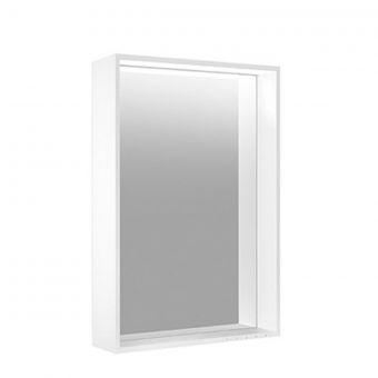 Keuco Plan Adjustable Light Mirror with Silver Anodised Frame