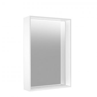 Keuco Plan Adjustable Light Mirror with Heater - Continuous Aluminium Frame