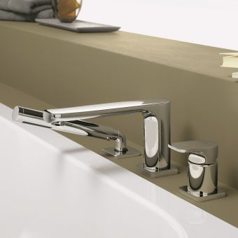 Villeroy and Boch Cult Bath Mixer Tap with Concealed Shower - 2741296000