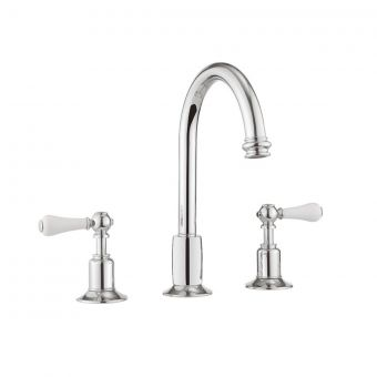 Crosswater Belgravia Lever 3 Hole Basin Set in Chrome