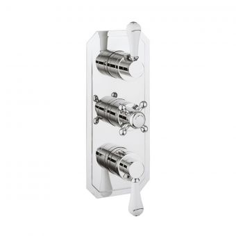 Crosswater Belgravia Lever Thermostatic 3 Handle Shower Valve with 2 Way Diverter