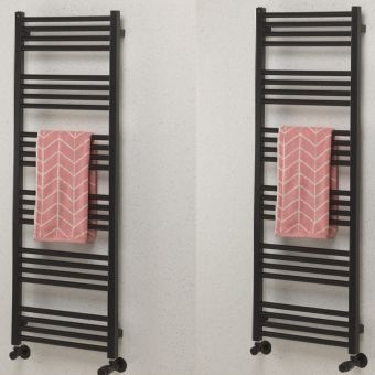 Crosswater MPRO Heated Towel Rail in Matt Black