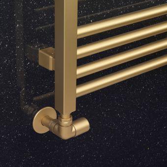 Crosswater MPRO Angled Radiator Valve - Brushed Brass Effect - RADTRVCF