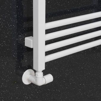 Crosswater MPRO Angled Radiator Valves - Matt White