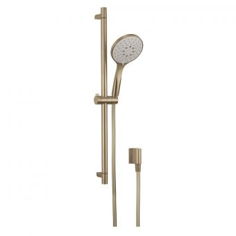 Crosswater MPRO Brushed Brass Shower Rail Kit - MPROKITF