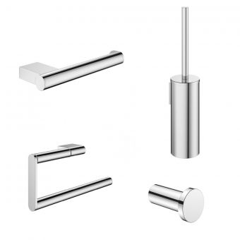 Crosswater MPRO Chrome 4 Piece Bathroom Accessory Pack - PROPACKCHROME4