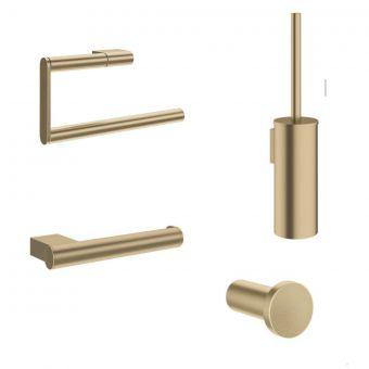 Crosswater MPRO Brushed Brass 4 Piece Bathroom Accessory Pack - PROPACKBRASS4