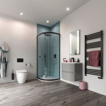 Crosswater MPRO Matt Black 4 Piece Bathroom Accessory Pack - PROPACKBLACK4