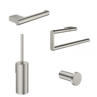 Crosswater MPRO Brushed Steel 4 Piece Bathroom Accessory Pack