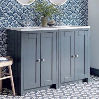 Tavistock Lansdown Large 4 Door Vanity Unit and Countertop Basins