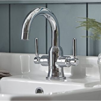 Tavistock Marston Basin Mixer Tap with Click Waste