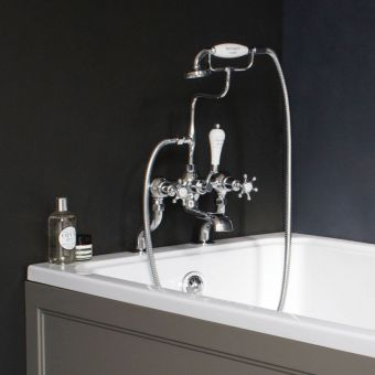 Burlington Birkenhead Deck Mounted Bath Shower Mixer Tap