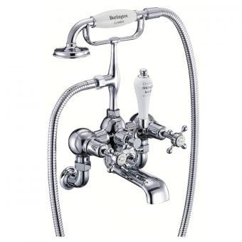 Burlington Claremont Wall Mounted Bath/Shower Mixer - T1/T172