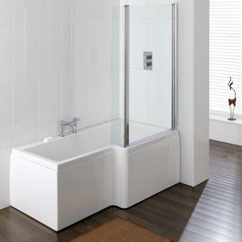 Carron Quantum L Shaped Shower Bath - 23.2026R