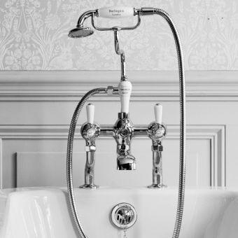 Burlington Kensington Deck Mounted Bath Shower Mixer Tap - T4/T18