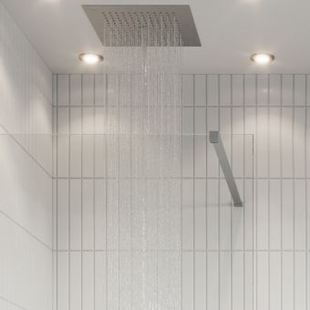 Crosswater Gallery 10 Brushed Stainless Steel Walk Through Wetroom Panel