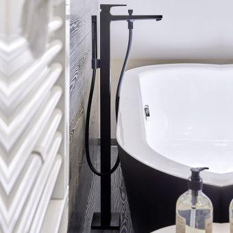 hansgrohe Metropol Single lever floor standing bath shower mixer in Matt Black - 32532670