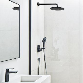 hansgrohe Select Round Shower Set in Matt Black