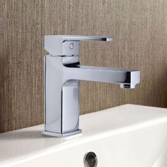 VitrA Q Line Chrome Monobloc Basin Mixer Tap - 40775