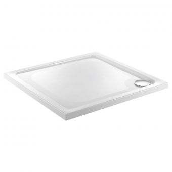 UK Bathrooms Essentials Square stone resin Shower Tray - HW90