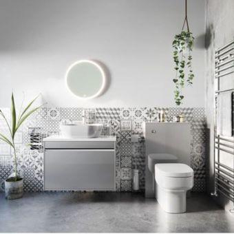 Crosswater Kai Single Drawer Vanity Unit with White Gloss Worktop