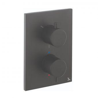 Crosswater MPRO Matt Black Crossbox Shower Valve