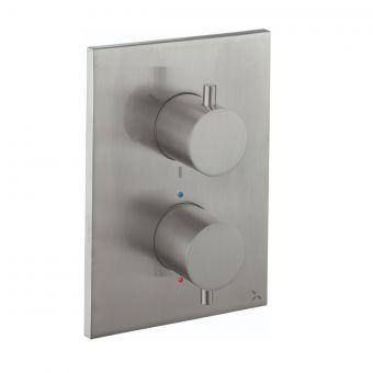 Crosswater MPRO Crossbox Brushed Steel Shower Valve