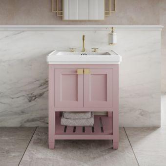 Burlington Riviera Matt Pink 580mm Vanity Unit And Basin