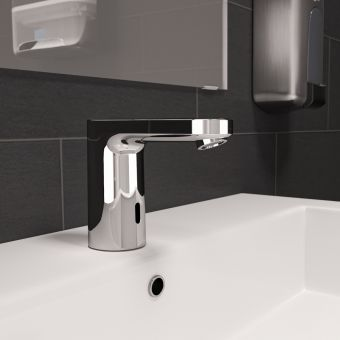 hansgrohe Vernis Blend electronic basin mixer tap with battery operation