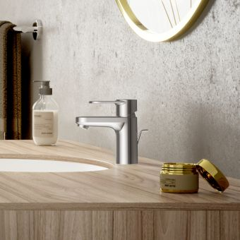 hansgrohe Vernis blend single lever basin mixer tap 70 with pop-up waste and isolated water conduction