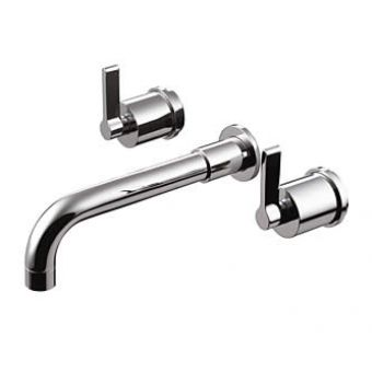 Ideal Standard Silver 3 Hole Wall Bath Mixer Tap