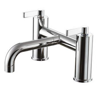 Ideal Standard Silver Deck Mounted Bath Mixer