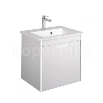 Bauhaus Solo White Gloss Vanity Unit and Basin 500mm