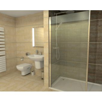 Rho Complete Walk in Shower Pack 1700 x 760mm