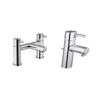 Grohe Concetto Basin mixer and Bath Filler