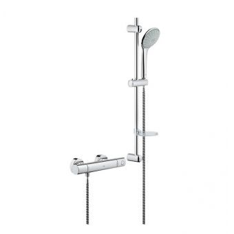 Grohe Grohtherm 1000 Cosmopolitan Thermostatic Shower Valve with Euphoria Shower and Rail