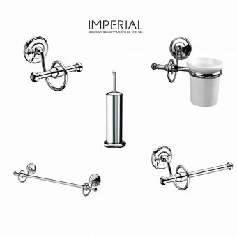 Imperial Istia 5 piece Traditional Bathroom Accessory pack
