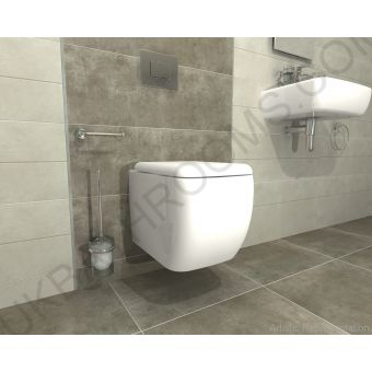 RAK Ceramics Metro Wall Mounted WC with Grohe Rapid Cistern and Cosmo Flush Plate