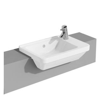 Vitra S50 Compact Square Semi-Recessed Basin