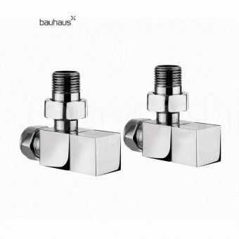 Bauhaus Square Angled Radiator Valves