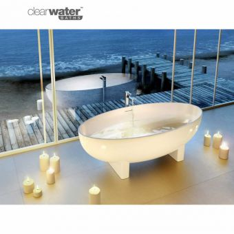 Clearwater Lacrima Natural Stone Freestanding Oval Bath