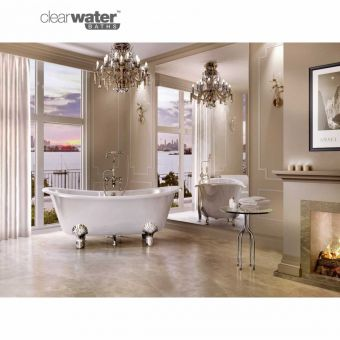 Clearwater Battello Grande Natural Stone Roll Top Bath