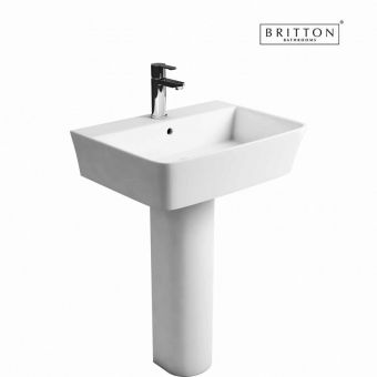 Britton Bathrooms Fine S40 Washbasin 50cm