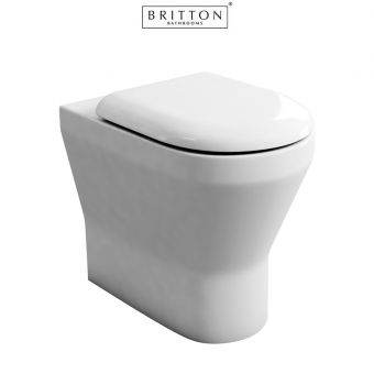 Britton Bathrooms Tall S48 Back to Wall Toilet