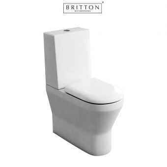 Britton Tall S48 Close Coupled Toilet with One Piece Cistern