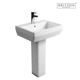 Britton Bathrooms Cube S20 Washbasin 50cm