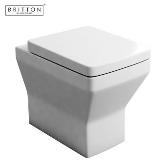 Britton Bathrooms Cube S20 Back to Wall Toilet & Soft Closing Seat