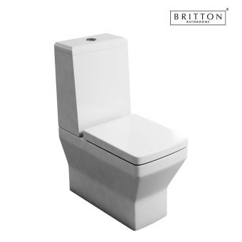 Britton Cube S20 Close Coupled Toilet with Angled Cistern Lid